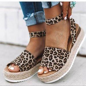 Soda Shoes | Leopard Espadrilles